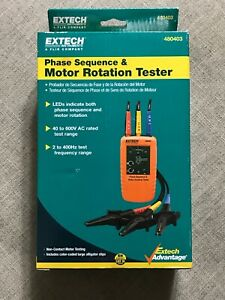 Extech Phase Motor Rotation Tester 40 600vac 480403