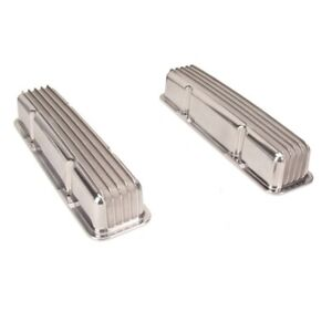Aluminum Valve Covers Small Block Chevy Tall Finned Pair