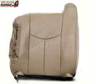 2003 2004 2005 2006 2007 Chevy Silverado Driver Top back Vinyl Seat Cover Tan