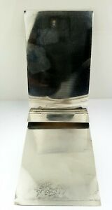 Vintage Tiffany Co Sterling Silver Notepad Holder With Fold Down Silver Cover