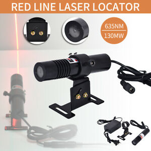 635nm 130mw Red Laser Line Laser Locator Indicator Waterproof Diode W adapter