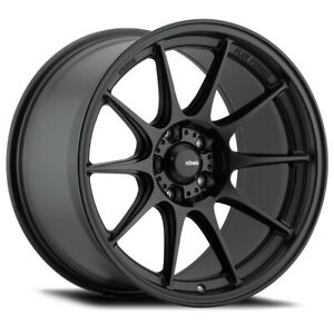 Konig Dekagram 19x9 5 25 5x114 3 Semi Matte Black Set Of 4
