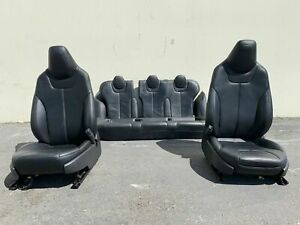 2013 Tesla Model S Black Leather Seats Front And Rear Left Right Set
