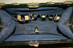 Antique Turn Of The Century Leather Medical Doctors Satchel Bag