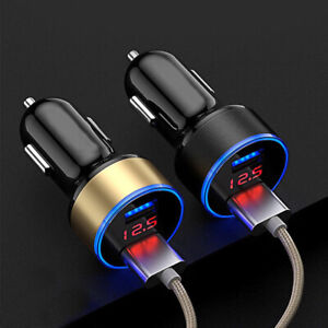 2 Ports 3 1a Usb Car Cigarette Charger Lighter Digital Led Voltmeter Accessories