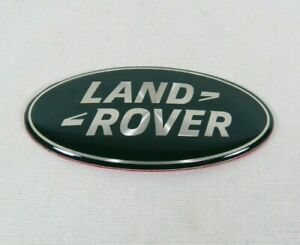 Land Rover Grille Emblem Green Silver Front Grill Oval Badge Sign Symbol Logo