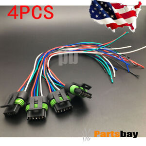 4x For Aem Ignition Smart Coil Connector 12 Pigtail Plug Harness Aem 30 2853