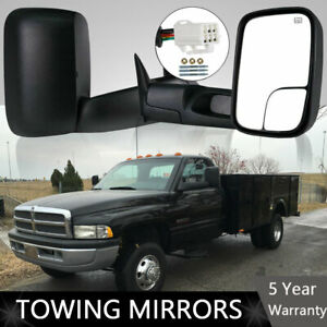 Latest Style Tow Mirrors Fit 98 01 Dodge Ram 1500 98 02 2500 3500 Power Heated