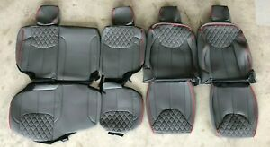2013 2018 Jeep Wrangler Jk 4dr Seat Covers Syn Leather Custom Gray red Pipe
