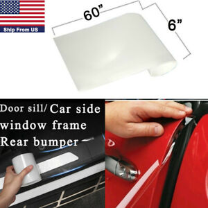 6x60 Clear Car Door Sill Edge Paint Protection Scratches Vinyl Film Sticker
