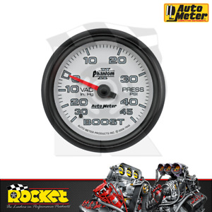 Auto Meter Phantom Ii 2 5 8 Boost vac Gauge 30in hg 45psi Au7808