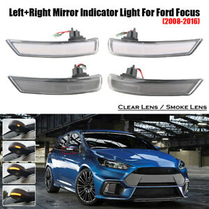 Left right Dynamic Door Wing Mirror Led Indicator Light For Ford Focus 2008 2016