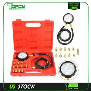 0 140 Psi Fuel Injection Pump Pressure Tester Gauge Car System Pump Tool Kit New