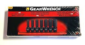 Gearwrench 7 Pc 3 8 Drive Deep Universal Impact Sae Socket Set 6 Point 84923n