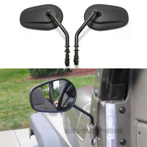 For Jeep Wrangler Pair Mirrors Quick Release Doorless For 1987 1988 2018 Jk Tj