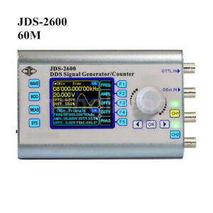 New 60mhz Dual Channel Function Arbitrary Waveform Dds Signal Generator