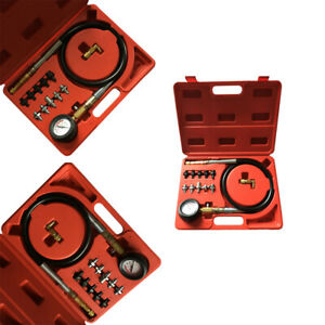 Top Engine Oil Pressure Test Kit Tester Car Garage Tool Low Oil Warning Devices