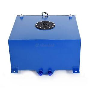 10 Gallon Aluminum Racing Drift Fuel Cell Tank And Level Sender Blue