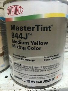 Dupont Mastertint Cromax Qt 844 J Medium Yellow Quart Chromabase