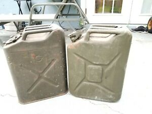 Vintage Bennett nesco Military Jeep Metal 5 Gallon Fuel Gas Jerry Can Icc5l 1951