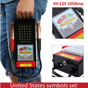 6v 12v Car Van Battery Tester Load Drop Charging System Analyzer Checker New
