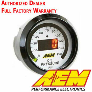 Aem 30 4407 52mm Digital 0 150psi Oil Pressure Gauge Meter With Warranty New