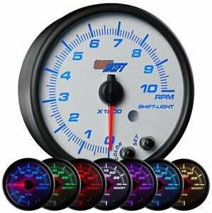 Glowshift White 7 Color 3 3 4 In Dash Tachometer Gauge