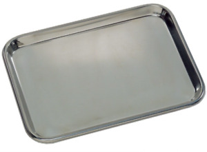 Graham Field Stainless Steel Flat Instrument Tray 19 X 12 X 5 8