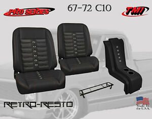 1967 72 Chevy Truck Sport X Complete Bucket Seat Kit W Console Tmi Products