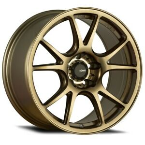Konig Freeform 19x8 5 32 5x120 Radium Bronze Set Of 4