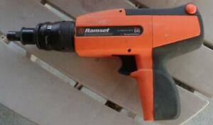 Pre owned Itw Ramset D45 Power Fastening Tool With Case 30 Shots Working