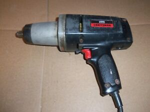 Vintage Sears Craftsman Heavy Duty Impact Wrench Electric Half Inch
