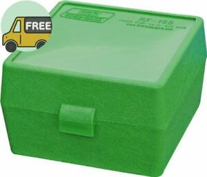 MTM Case-Gard RM-100 Series Medium Rifle Ammo Box 100 Round Green