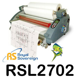 Royal Sovereign Rsl 2702 27 Table Top Hot Cold Roll Laminator With Mounting