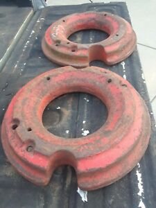 Vintage Case Tractor Wheel Weights Set Vt 624