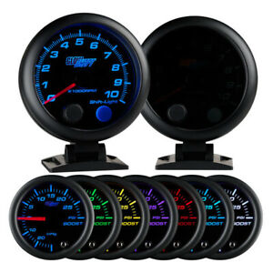 Glowshift Tinted 7 Color 3 3 4 Tachometer Gauge With Shift Light