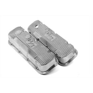 Holley 241 84 Bb Chevy M T Valve Covers Polished Cast Aluminum