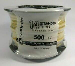Southwire 14 Awg Thhn Stranded Copper Wire Yellow 500 Machine Made In Usa New