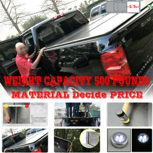 Solid Fold Tonneau Cover For Dodge Ram 1500 5 7ft Hard Solid Trifold Truck Bed