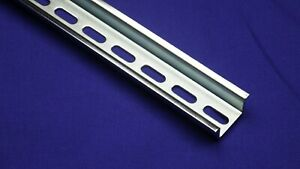 New Pre cut Din Rail Slotted Steel 35mm X 15mm High Profile Rohs Compliant