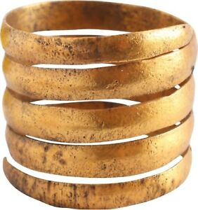 Medieval Viking Coil Ring 10th Century Ad Size 10 75 19 7mm Rare Artifact