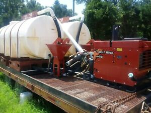 Mud Mixing System Ditch Witch Fm25 Directional Drilling 2 1000 Gallon Tanks