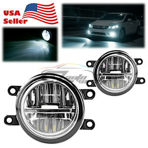 For 09 13 Toyota Venza Pair 80w Led Fog Light Clear Lens Replacement Upgrade T5
