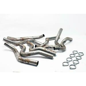 Dynatech 760 42410 Long Tube Bbc Side Exit Header Kit 2 25 2 38