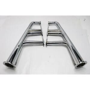 Small Block Chevy Lake Style Headers Chrome