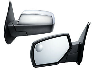 For 14 19 Silverado Sierra Mirror Power Heat Spotter Glass Chrome Cap Lh Side