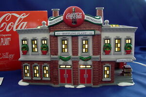 Dept 56 Snow Village Coca Cola Bottling Plant 54690 Mint Retired 1997