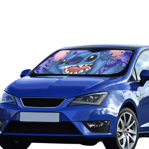 Hot New Custom Lilo And Stitch Uv Rays Protection Windshield Visor Car Sun Shade