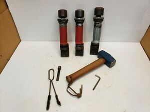 Lot 3 Hilti Dx100l Single Shot Powder Actuated Drive Fastening Tools W extras