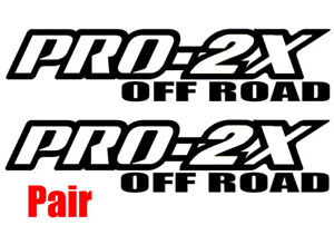 Pro 2x Pair Nissan Frontier Off Road Truck Decal Set Vinyl Outline Only 14 Inch